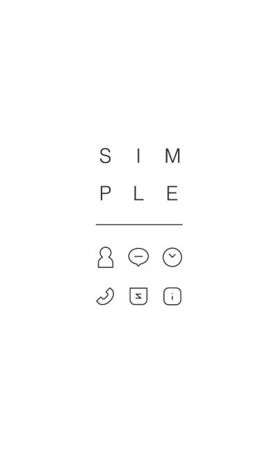 SIMPLE / white.