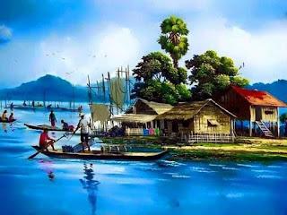 suasana desa nelayan jaman dahulu