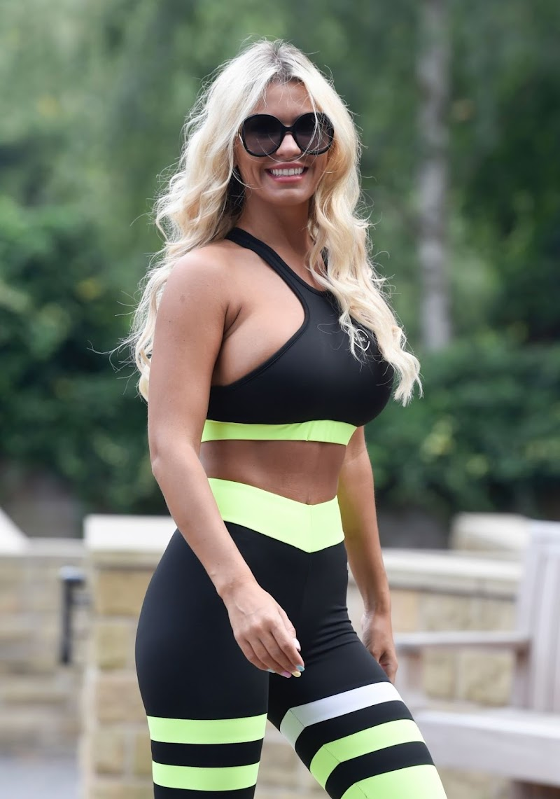 Christine McGuinness Clicked Outside While Jogging in Cheshire 15 Aug -2020