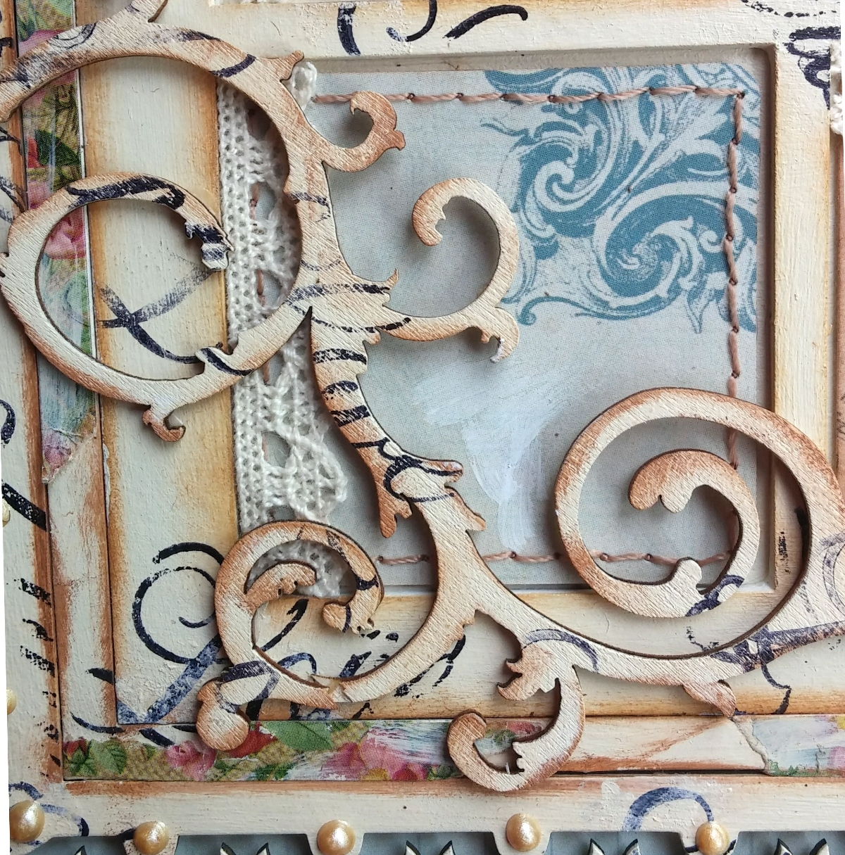 BoBunny: Shabby-chic Juliet Wall Art