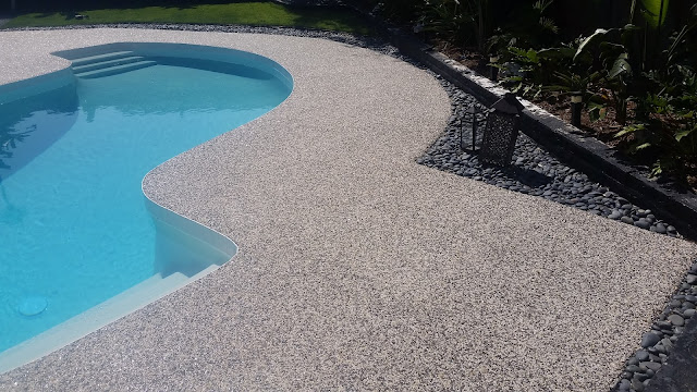 Epoxy Pebble Stone Concrete Resurfacing