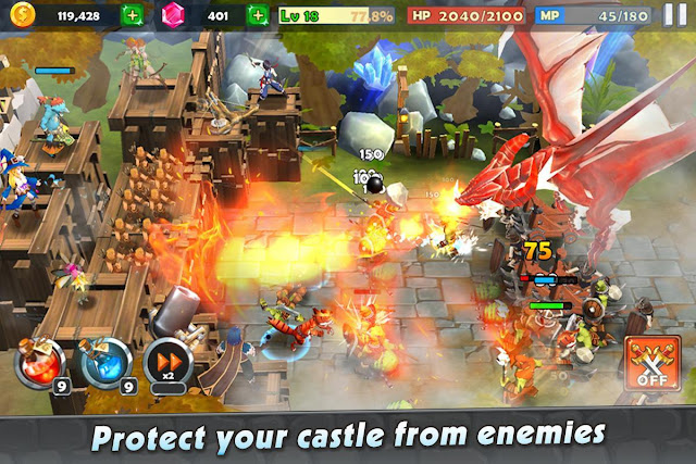 Download Castle Rush: Hero defender & Idle defense Mod Apk