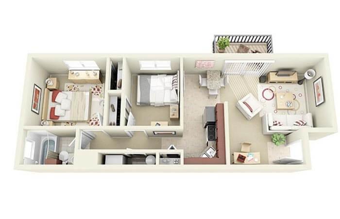 2+1 mimari proje örnekleri