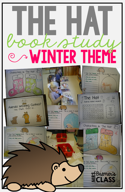 Activities to go with The Hat by Jan Brett- perfect for a winter theme!