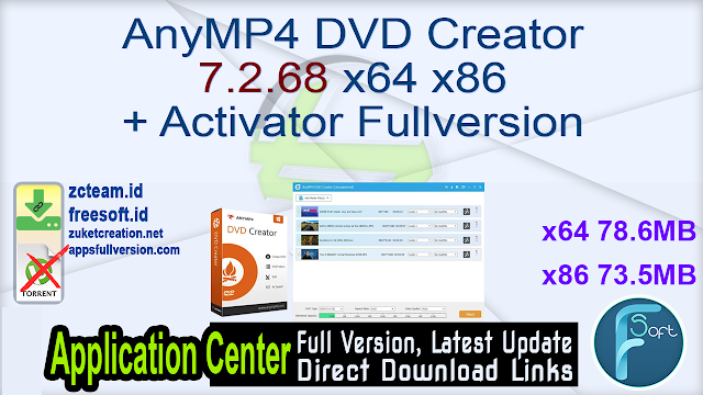 AnyMP4 DVD Creator 7.2.68 x64 x86 + Activator Fullversion