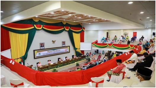 Milad Inhil Ke-55, DPRD Gelar Rapat Paripurna Istimewa Sesuai Protokol Covid-19