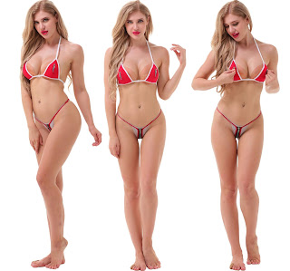 Madaam red zip Lingerie Set