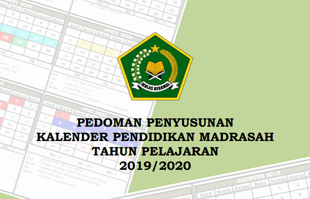 Kalender Pendidikan Tahun 2019/2020 Madrasah Wilayah Jateng (Excel)
