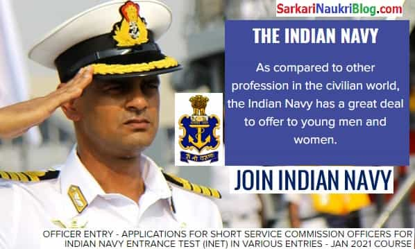 Navy INET January 2021 Officer Recruitment Exam