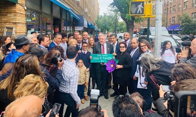 Una esquina de Queens rebautizada en memoria al fallecido senador estatal dominicano José Peralta