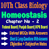 Homeostasis 10th Biology Chapter Two Notes