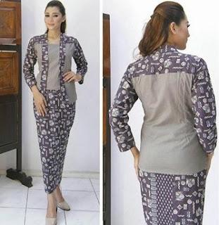 model rok batik panjang kombinasi