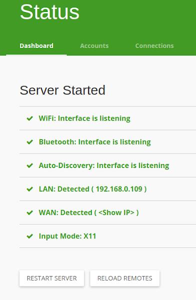 Conexão Bluetooth ativo