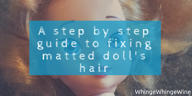A step by step guide to fixing matted doll's hair