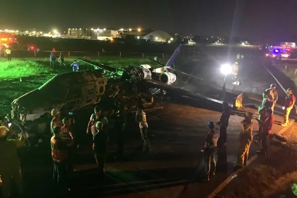 Plane Carrying Coronavirus Materials Crashes, All Onboard Killed (Photos)
