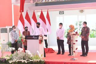 Instalasi Pengolahan Sampah Jadi Energi Listrik Benowo diresmikan Jokowi