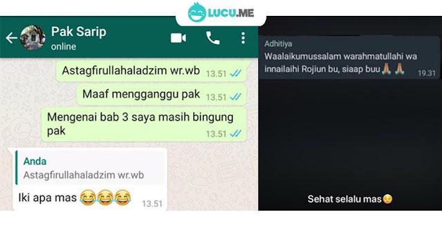 10 Chat Lucu 'Salah Ketik Ke Guru' Ini Kocaknya Bikin Tepuk Jidat