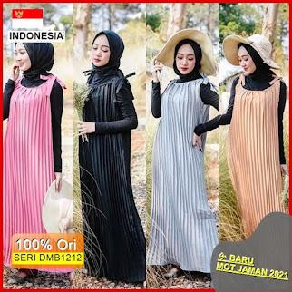 Dmb1212 Dress Wanita Free Belt Meiya Overall Plisket Overall Plisket Premium