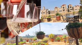Rooftop wine tasting