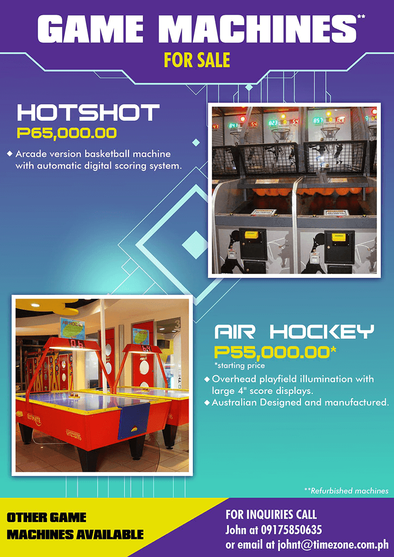 TimeZone is now selling some of its arcade game machines!