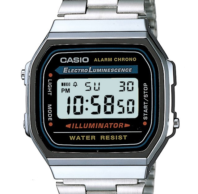 Silver Vintage Casio Watches