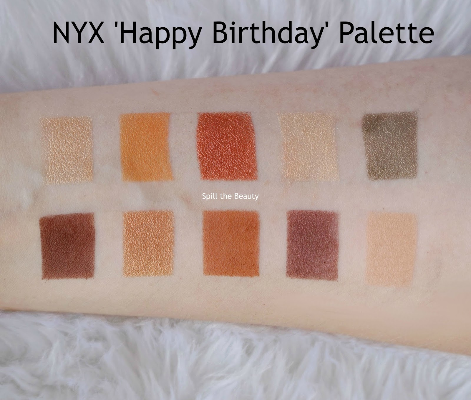nyx happy birthday palette ulta birthday gift swatches review