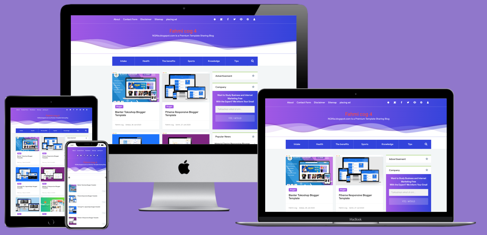 Viral go responsive blogger template