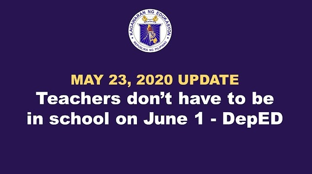 Teachers don't have to be in school on June 1 - Briones