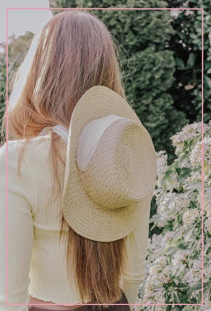 H&M sun hat summer neck tie 2020