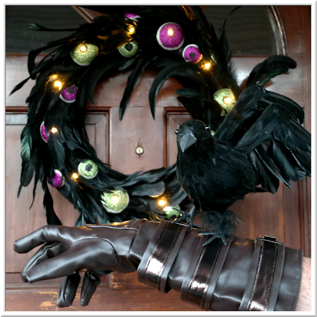 Fun with Black Crow-Themed Halloween Ideas  |  3 Garnets & 2 Sapphires