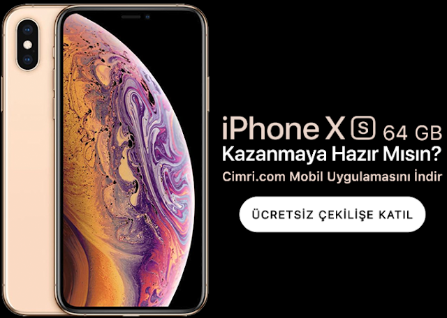 Çekilişle iPhone XS Sahibi Olun!