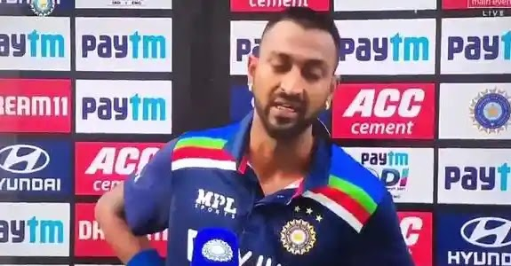 Krunal Pandya is teared by an ODI debutant aftersmashes the fastest 50