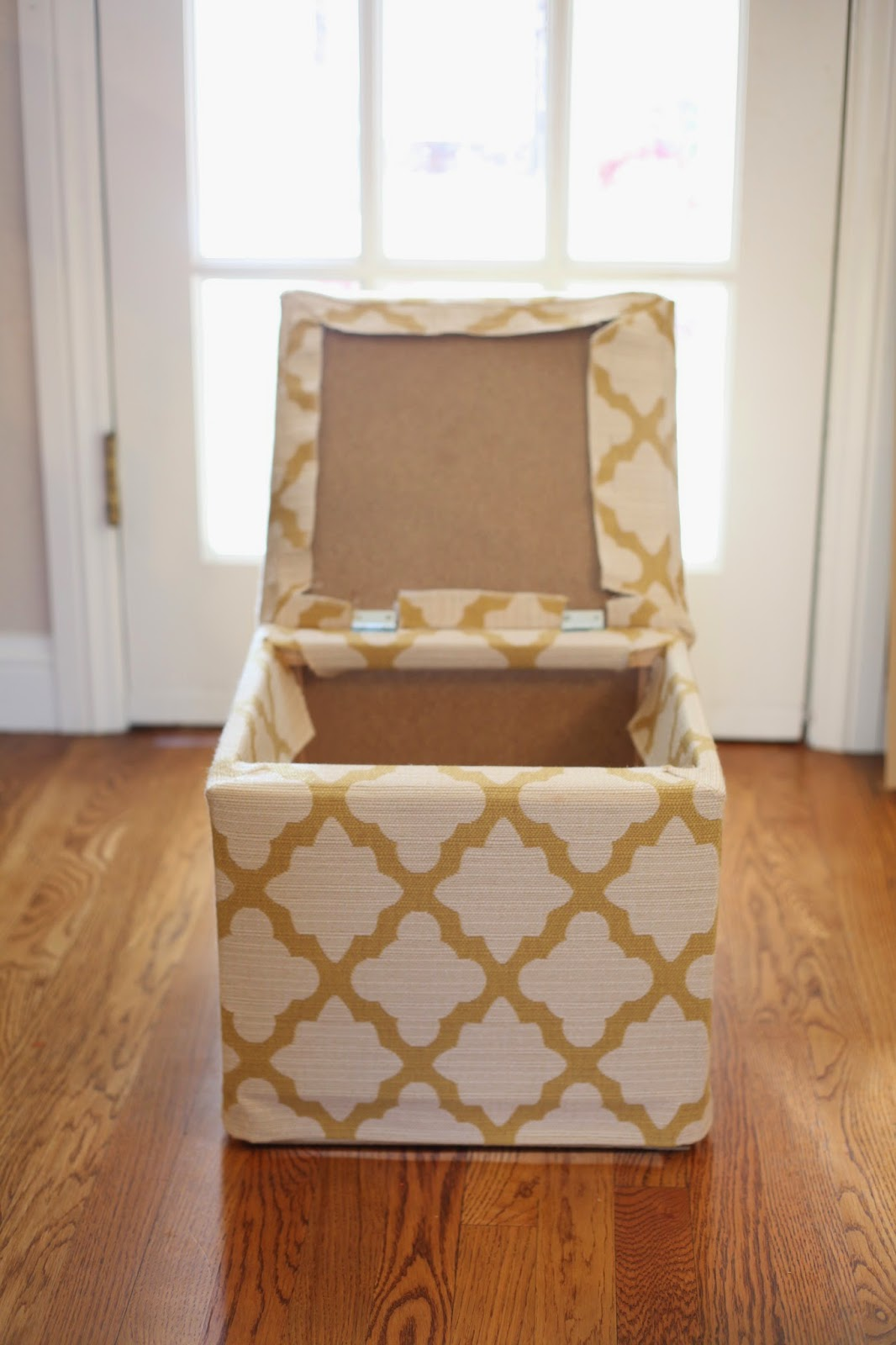 From Ikea Footstool to Custom Made Storage Ottoman