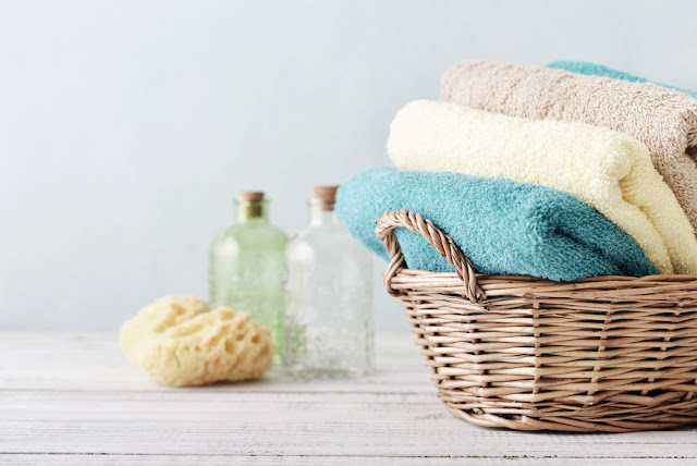 How to get sour smell out of towels.