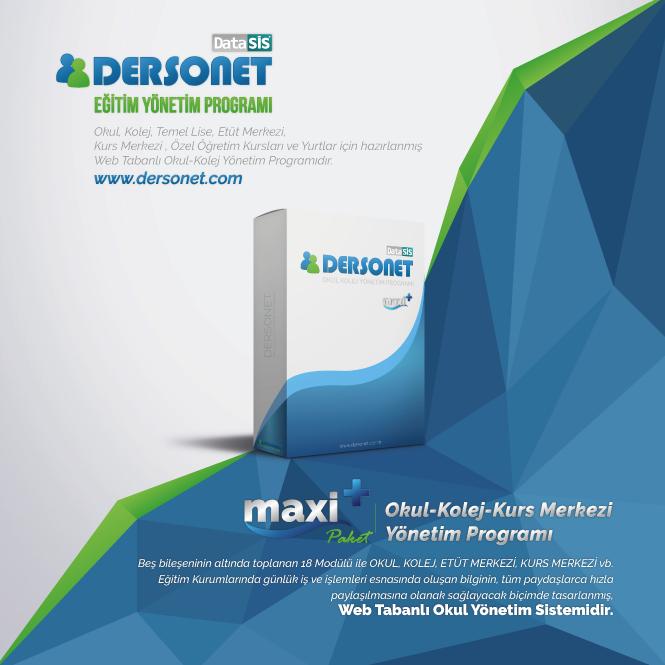 Dersonet Maxi Plus Paket Okul Kolej Kurs Merkezi Yönetim Programı