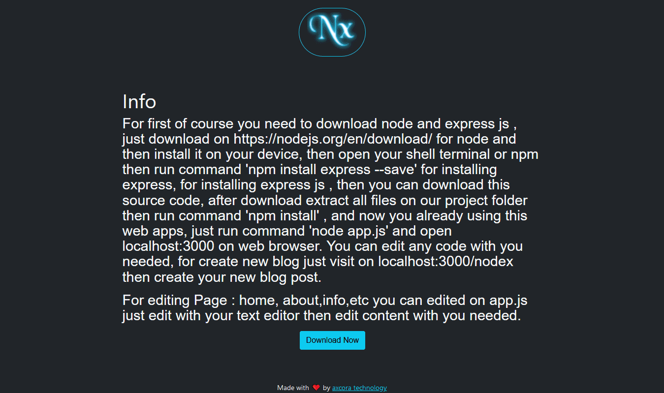 node cms blog source code free download