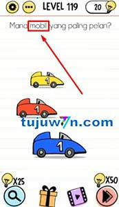 Level 119 Mana mobil yang paling pelan? brain test