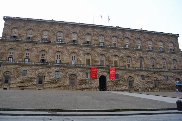 Façade extérieure du Palazzo Pitti.