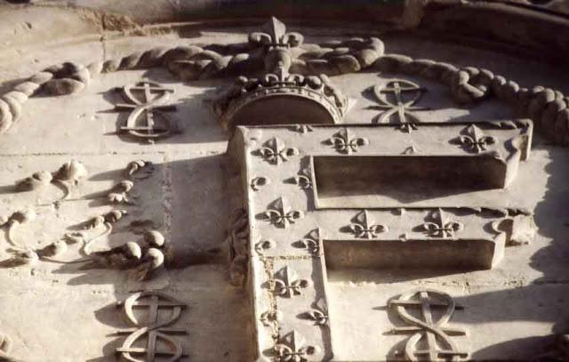 Un disque de la tour-lanterne du château de Chambord.