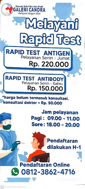 daftar biaya tes swab pcr dan antigen di malang www.tikacerita.com