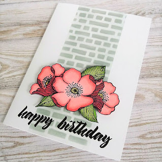 Birthday card with Adore You stamp set