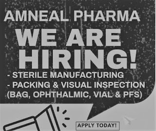 Amneal Pharmaceuticals Pvt Ltd Job Opening for ITI/ Diploma/ B.Sc/D. Pharm Candidates For Operator Position