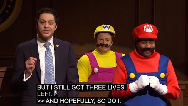 Saturday Night Live Mario Wario Andrew Cuomo three lives left Italian Americans