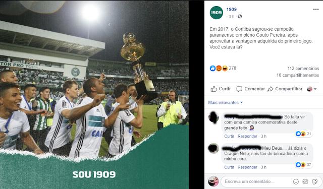 Parece piada: 1909 do Coritiba comemora título do Paraense de 2017 dias após Athletico ser Campeão da Copa do Brasil