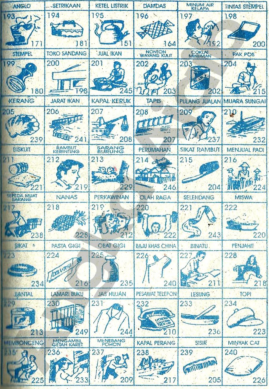 Buku mimpi Erek Erek 3D 193-240