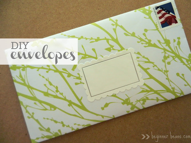 making your own scrap book paper envelope