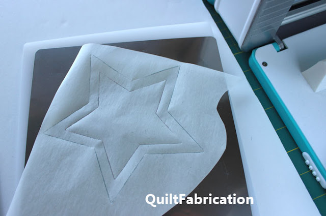 die cut star from fusible web