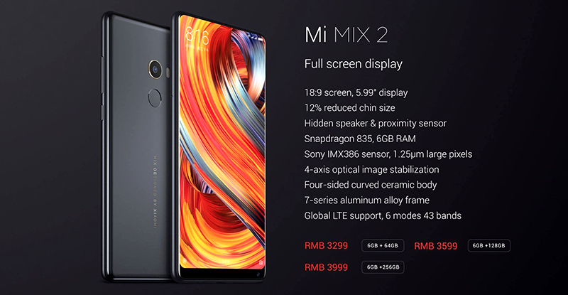 Xiaomi Announces Mi Mix 2 and Mi Mix 2 Special Edition!
