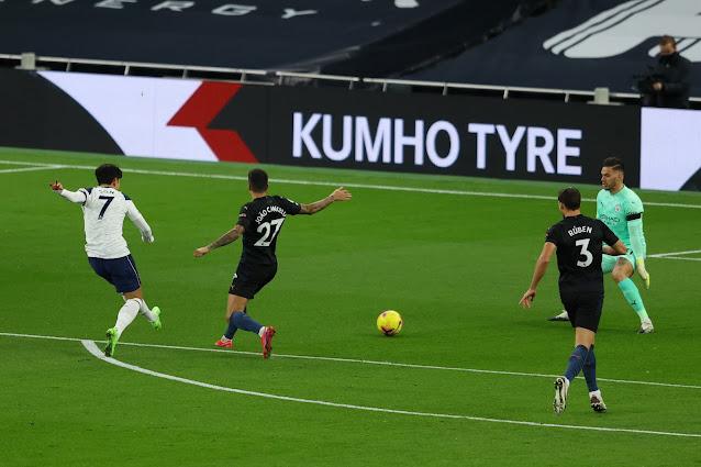 ملخص مباراة توتنهام ومانشستر سيتي (2-0) اليوم السبت في الدوري الانجليزي