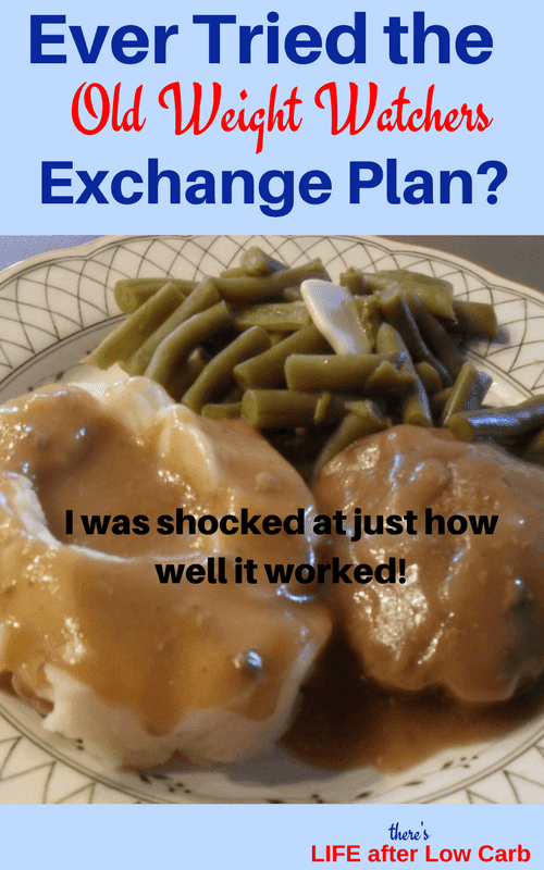 Pinterest Image: Salisbury Steak, Mashed Potatoes and Gravy, Green Beans with Butter